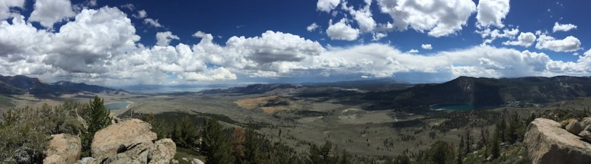View from the peak looking east. Mono Lake is 2nd from left