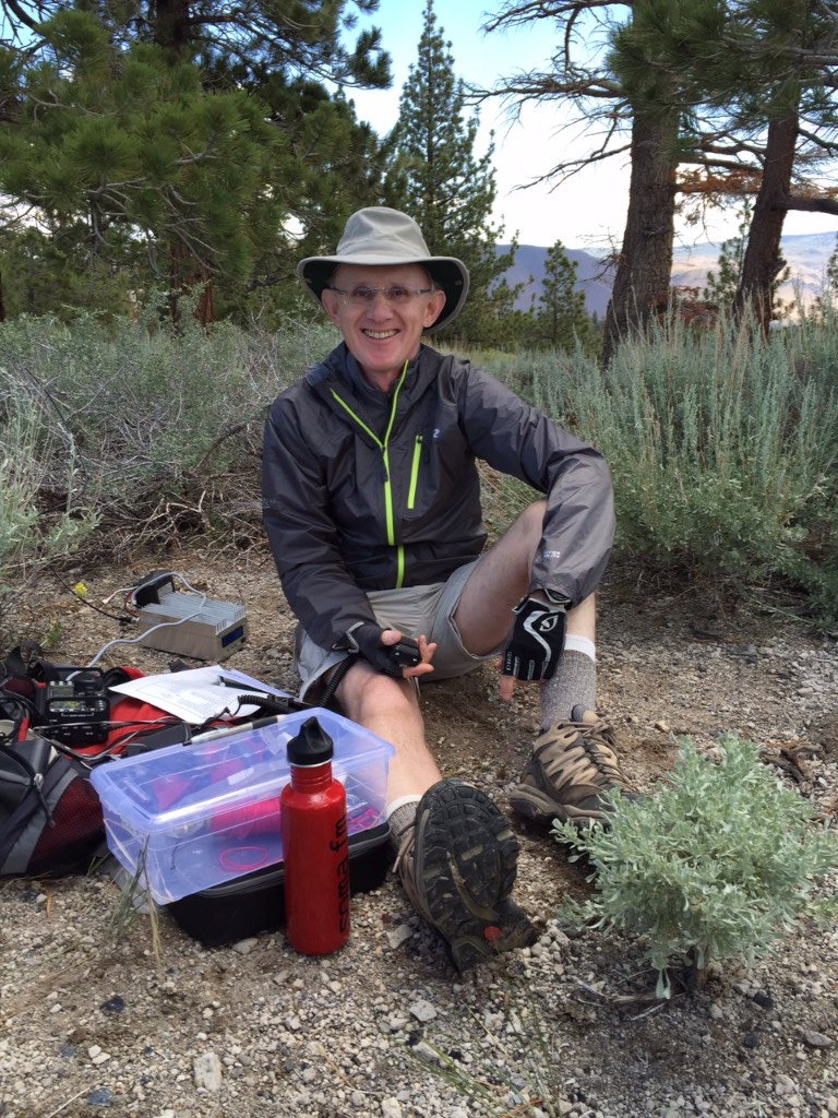 A happy W6PNG having accomplished his first ever SOTA activation