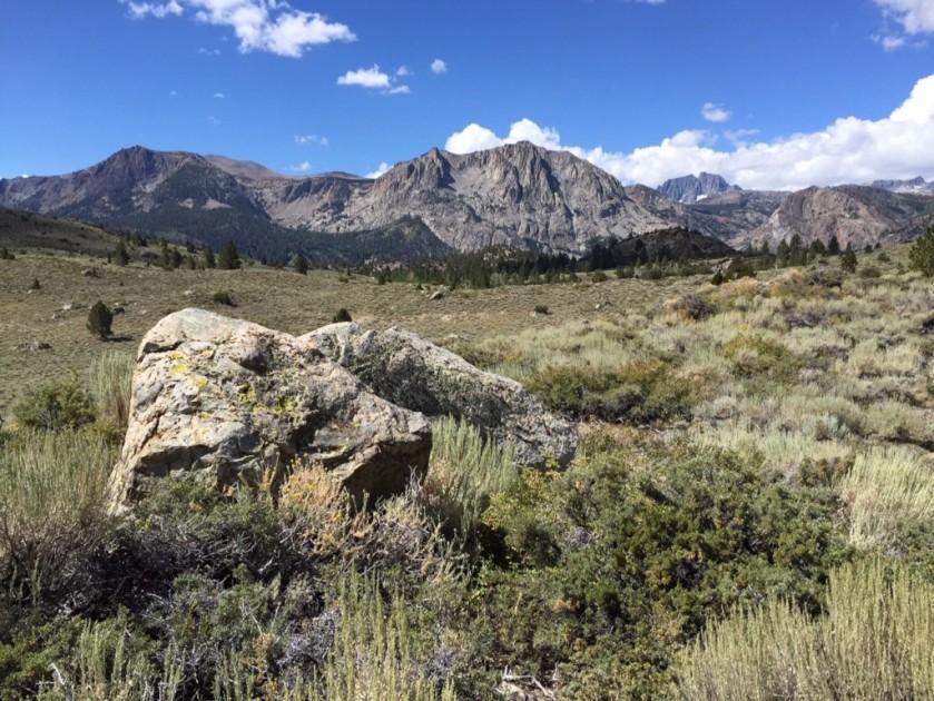1/2 way to peak looking west into Sierra