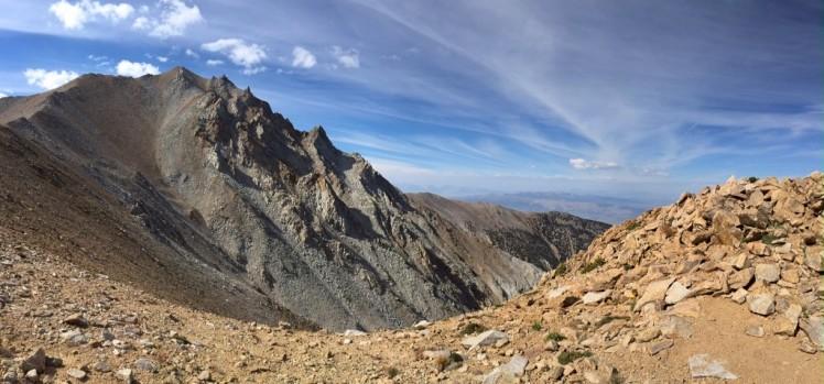 Boundary highest peak is top left