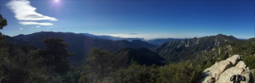 View from Kratka looking over LA Basin (looking west)