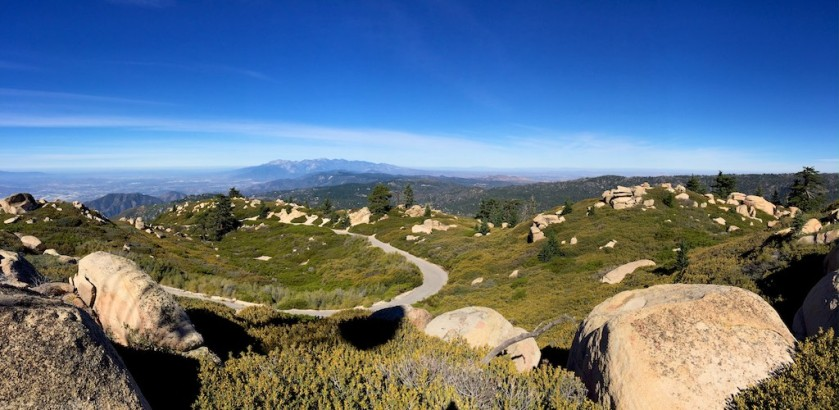 Looking at Mt Baldy in San Gabriel Mountains