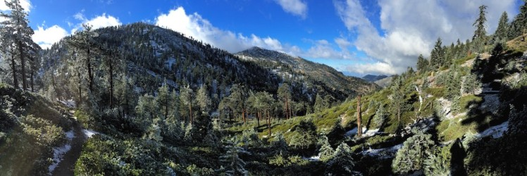 Looking down Icehouse Canyon